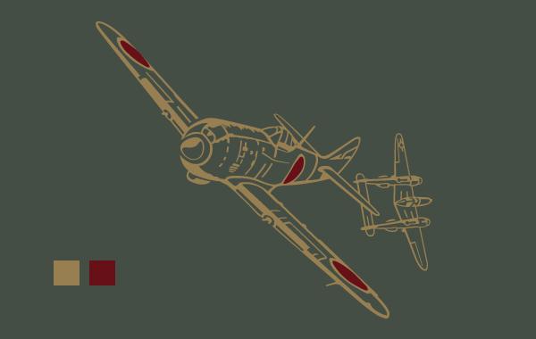 四式戦「疾風」Tシャツ背面デザイン
