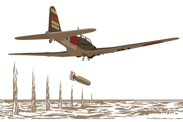 空母「飛龍」ミッドウェー海戦Tシャツ 背面デザイン