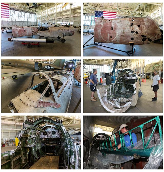 太平洋航空博物館で97艦攻の復元始まる