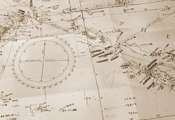 ソロモン方面航空図